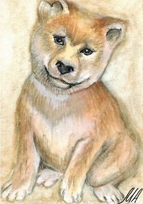 ACEO Original Art Painting Dog by Alla M