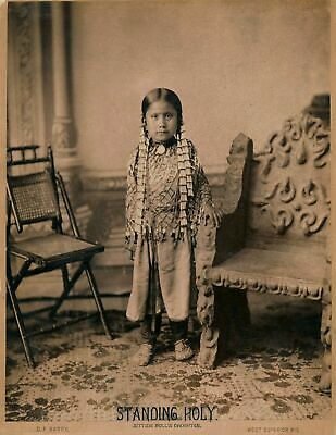 Native American Indian Standing Holy, Sitting Bulls Daughter Photo Print Picture