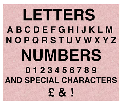 numbers signs,door numbers Sticky bin numbers Letters Self Adhesive .stickers