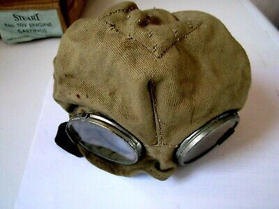 Ww11 Raf Pilots? Goggles & Skullcap Tank Driver? Vintage Motorcycle / Dispatch ?