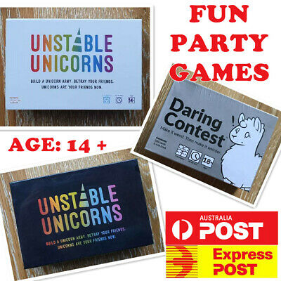 Unstable Unicorns Expansion Cards Party Card Game AU STOCK