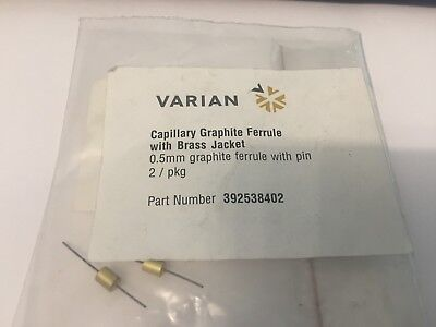 Chromatography Capillary Graphite Ferrule  0.5mm with pin 392538402 2off