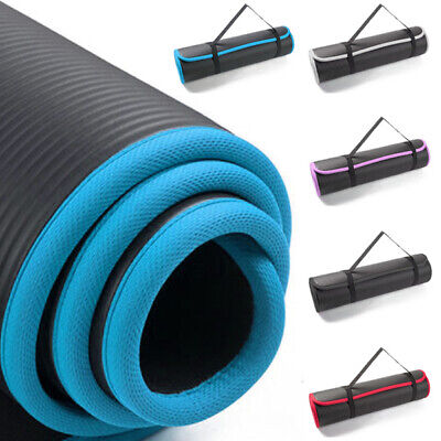TnP NBR Large Thick Yoga Mat for Pilates Gymnastics Exercise with Carrier Strap