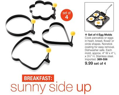 4Pcs Fried Egg Non Stick Stainless Steel Pancake Ring Mold Cooking Kitchen Tools