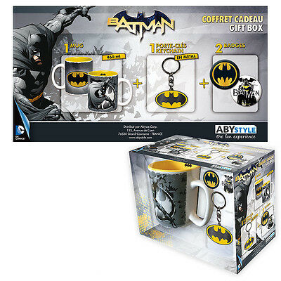 Pack Mug + Keyring +2 Chaps Batman - Dc Comics - Official Product
