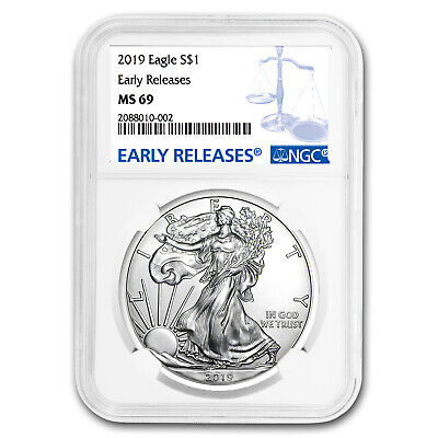 2019 Silver American Eagle MS-69 NGC (Early Releases) - SKU#172568