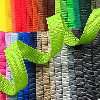 20mm 3/4in. Polypropylene webbing tape for straps, belts, bag making (W009)
