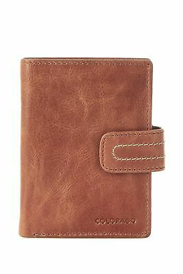 New Colorado Leather RFID Small Flip Out Tab Womens Small Purse Wallet Toffee