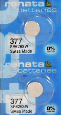 Long Lasting Renata 377 1.55v Watch Cell Battery SR626SW Mercury Free  UK seller