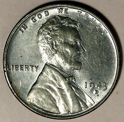 "1943-S  1C Lincoln Wheat Cent, 18lso1104 ""UNC""  Only 50 Cents for Shipping"