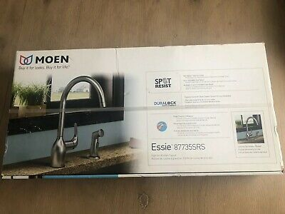 MOEN Essie Single-Handle Standard Kitchen Faucet with Side Sprayer in Stainless