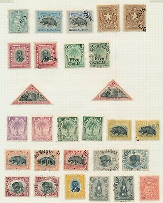 Liberia Stamps 1892-1896 Local Motifs Higher Vals, 1894 Commerce, 2 Pages Of Vf