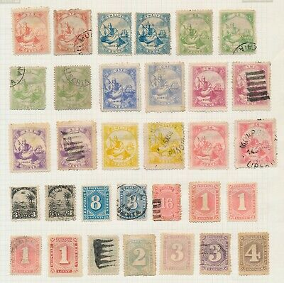 Liberia Stamps 1860-1891, Lovely Album Page Of Early Issues