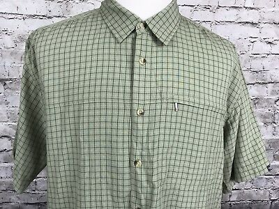 75d648087 THE NORTH FACE Men's XL Red Plaid Short Sleeve Button Front Shirt ...
