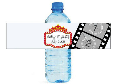 100 Cardboard Brown wedding Anniversary Engagement Party Water Bottle Labels