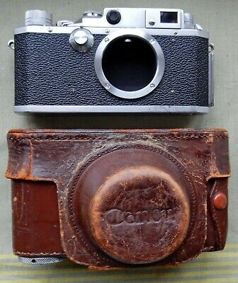 CANON E-P 35mm RANGEFINDER CAMERA BODY ONLY WITH CASE S/N 121435