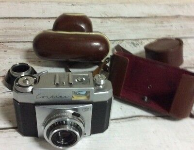 Vintage Zeiss Ikon Contina 35mm Film Camera And Accessories