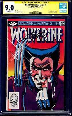 Wolverine Limited Series #1 CGC SS 9.0 signed Chris Claremont 1982