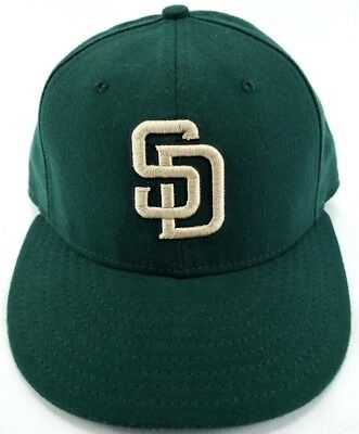 180796d260f SAN DIEGO PADRES New Era MLB C-Dub Patch 59FIFTY Cap Fitted Sz 7 5 8 ...