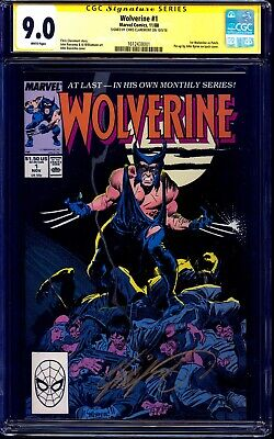 Wolverine #1 CGC SS 9.0 signed Chris Claremont 1988