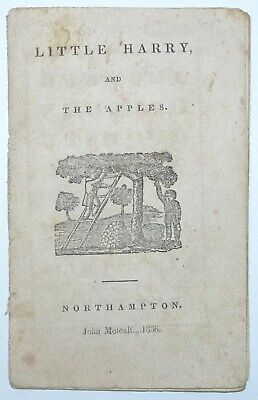MINIATURE American 19th Century CHILDRENS BOOK Little Harry And The Apples 1836