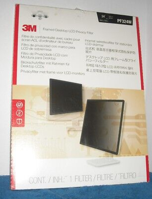 """3M Framed Desktop Monitor Privacy Filter for 23.6"""" to 24"""" Widescreen LCD, 16:10"""