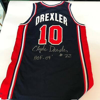 587dae7d802 Clyde Drexler 1992 Team USA Dream Team Signed Game Used Jersey Olympics JSA  COA