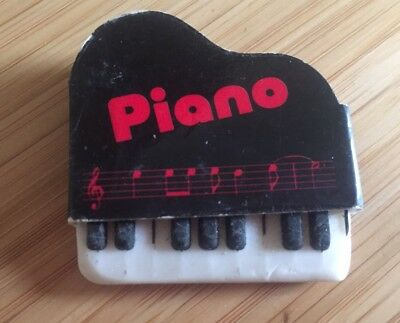 JAPAN Japanese SEED Piano Retro Vintage Rubber Eraser Novelty 80s 1980s