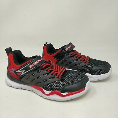 b42c30a77865 Boy s Toddler Skechers 97530N Skech-Train Athletic Shoes - Black Red A24
