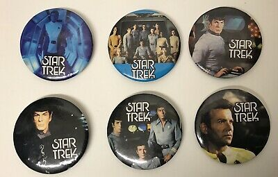 Vintage Star Trek The Motion Picture Pin Pinback Button Lot Of 6 (FREE SHIPPING)