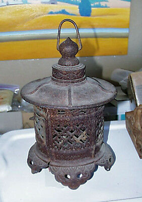 Large Antique Cast Iron Oriental Lantern