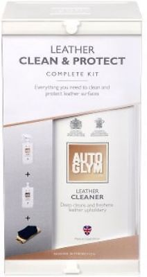 Autoglym Leather Clean & Protect Complete Kit Cleaner Balm Cloth Pad Applicator