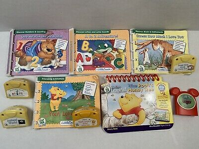 Leap Frog Lot My First Baby Little Touch Leap Pad Books And Cartridges