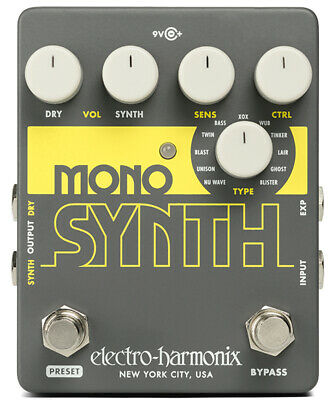 Electro Harmonix Guitar Mono Synth Guitar Monophonic Synthesizer Pedal