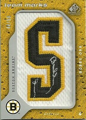 2008-09 SP Game Used BOBBY ORR Team Marks Patch & Auto 3C Mint 44/50