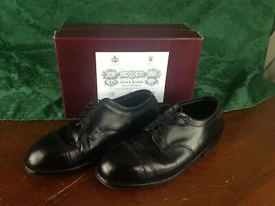 5d75921d0947 LARGE John Lobb bespoke cap toe blucher London black with box awesome
