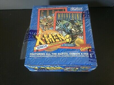 7fd67bc1654 1993 Skybox Marvel X-Men Series 2 Box 36 Packs of Cards Unopened Shrink  Ripped