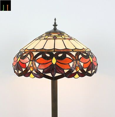 Artwork Tiffany Victorian Style Floor Lamp Art Deco Stained Glass Floor Lamp