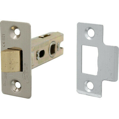 Each FreePost.UK 63mm NEW 2 X Door Mortice Latch Nickel 2 1//2/""