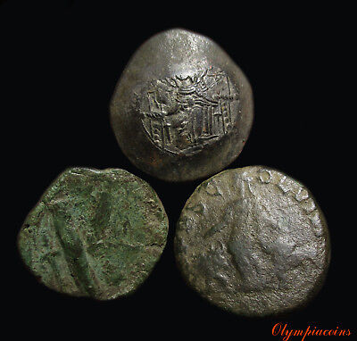 LOT OF 3 VERY FINE  Ancient ROMAN & BYZANTINE BRONZE COINS