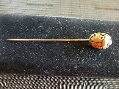 Ancient Carved  Soapstone Egyptian Cartouche Scarab Beetle Stick Pin Own History