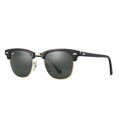 RayBan Clubmaster Classic Sunglasses - Black Green Classic G-15 3016 49-21