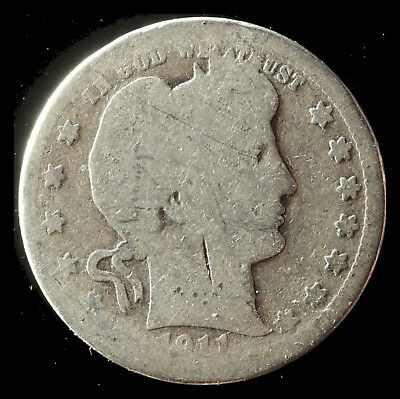 1911-P Barber 90% Silver Quarter Ships Free. Buy 5 for $2 off