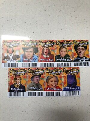Willy Wonka And The Chocolate Factory Arcade Card Set