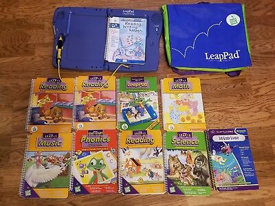 Leap Frog - Leap Pad Learning System With Case & 10 Books. No Cartridges