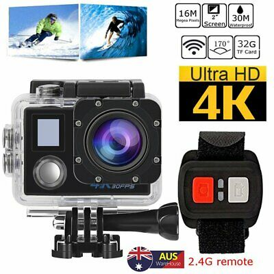 4K Ultra HD 1080p WIFI Waterproof Sports Action Video Camera for GoPro Fit Mount