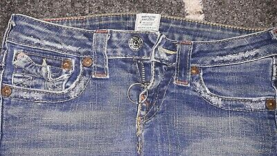 35ff4c286 True Religion Rn  112790 Ca 30427 Straight Leg Med wash Jeans Size 26 Joey  Super