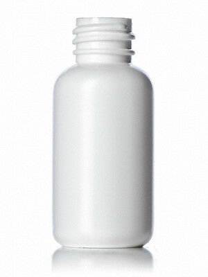 1 oz (30 ml) WHITE LDPE Squeezable Plastic Bottles (Lot of 50) (Choice of Cap)