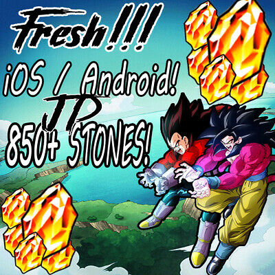 Dokkan Battle JP STACKED FRESH 850 STONES iOS / ANDROID!! NO STORY DONE!(CHEAP)