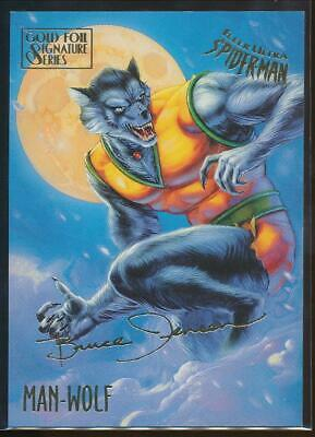 1995 Spider-Man Premiere Gold Signature Trading Card #36 Man-Wolf